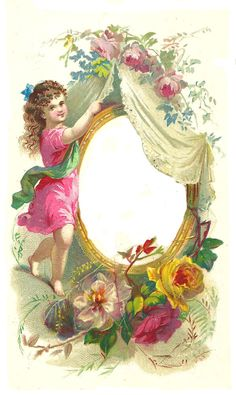 Vintage Frame Card ~ PJH Designs Hand Painted Antique Furniture: Free Graphic Wednesday #57