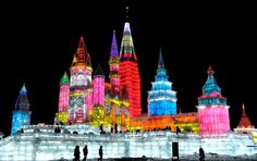 Harbin International Ice and Snow Festival in Harbin, China.