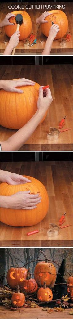 Cookie Cutter Pumpkins Tutorial Pictures, Photos, and Images for Facebook, Tumblr, Pinterest, and Twitter