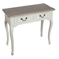 WOODEN CONSOLE IN WHITE/BEIGE COLOR 90X40X80