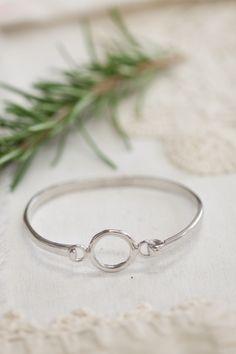 open circle front clasp bracelet {sterling silver} | Lisa Leonard Designs