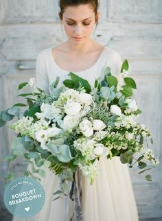 Stunning White on White Bouquet filled with Peonies, Sweet Peas and Spirea plus so much more! From Annalisa Di Federico -- see the details on #SMP. Photography: GregFinck.com | Floral Design: Isa Events - isaevents.it