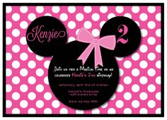 Minnie Mouse Pink Birthday Party Invitation