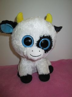 """Daisy - Ty Beanie Boo  The Cow  Retired / Rare - NO HEART HANG TAG 9"""" #Ty                                                                                                                                                      More"""