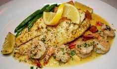 Baked Redfish with Lemon Butter Sauce photo