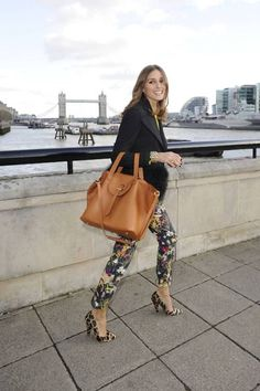f728aac3bfe8a floral pants + leopard shoes Olivia Palermo Lookbook
