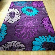 Captivating Purple And Teal Area Rug