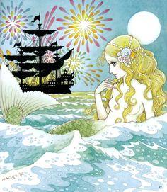 the little mermaid mermaid Mermaids macoto takahashi takahashi macoto Mermaid Illustration, Manga Illustration, Manga Art, Manga Anime, Anime Art, Comic Kunst, Water Fairy, Mermaid Pictures, Unicorns And Mermaids