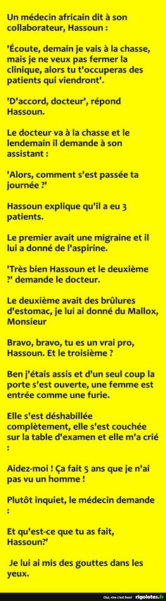 Un médecin africain dit à son collaborateur... - RIGOLOTES.fr Funny Images, Funny Pictures, Funny Text Messages, Real Friends, Funny Texts, Haha, Hilarious, Jokes, Troll