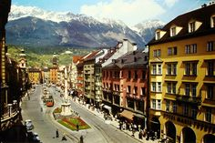 Innsbruck, Austria- so beautiful!! Ashley & Meghan skied an Olympic trail there- straight down the Alps!!