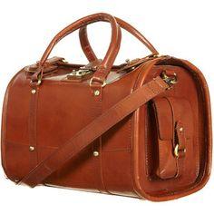 Brown Leather Barrel Bag. Topshop.