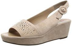 Högl 1- 10 3222, Damen Slingback Sandalen mit Keilabsatz, Beige (1800), 36 EU (3.5 Damen UK) - http://autowerkzeugekaufen.de/hoegl/hoegl-1-10-3222-damen-slingback-sandalen-mit-beige