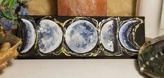 Any Images, Moon Phases, Acrylic Art, Custom Paint, Ethereal, Art Pieces, My Etsy Shop, The Originals, Canvas
