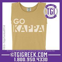 TGI Greek - Kappa Kappa Gamma - PR - Comfort Color Tanks  #tgigreek #kappakappagamma