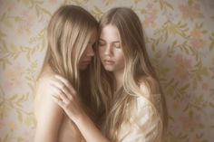 Twins Inka & Neele H. photographed by Vivienne Mok Beautiful, intimate posing.
