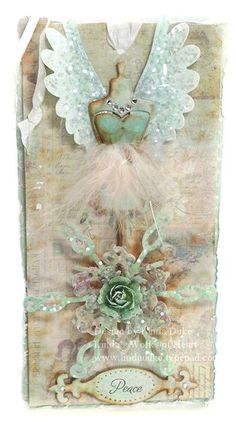 Angel and Snowflake...This is just gorgeous!  Wish I could create such beautiful items!