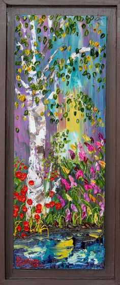 Summer Serenity Acrylic Art Landscape by CreativeWomanhood