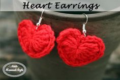 Day 4 of the Valentine's CAL is the Small Heart Earrings. They can be made in under 15 minutes and are perfect last minute gift that comes from the heart.