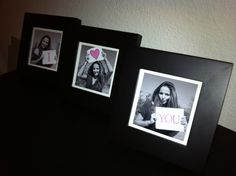 DIY pictures for boyfriend on Valentines Day! He loved it :)