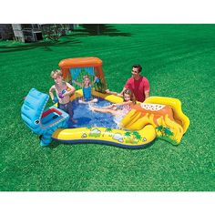 Kids Water Park Slip N Slide Pool Sprinkler Summer 3in1