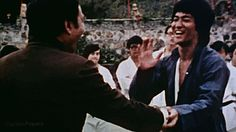 "captainpepero: ""Bruce Lee and Kien Shih on the set of ENTER THE DRAGON (1973) """