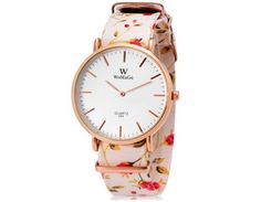 WoMaGe 699 Classical Pastoral Style Women's Quartz Watch with Faux Leather Band