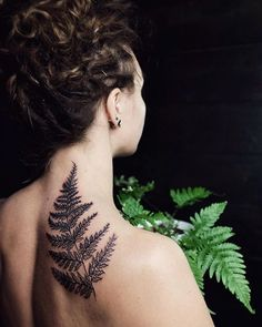 Back to the roots! ✨ #tattoo #blacktattoo #fern #ferntattoo #linework…