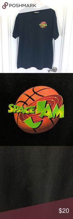 67c02c9cc34c Vintage Space Jam Looney Tunes Black Graphic Tee Vintage Space Jam Looney  Tunes Black Graphic Tee
