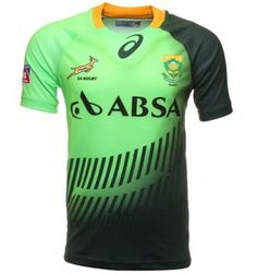 Asics South Africa Springboks Seven Home Match Shirt - Fenton Sports Online Rugby Rugby Pictures, South Africa Rugby, Gold Collar, Sport Online, Vintage Jerseys, Asics, Soccer, Crests, Casual