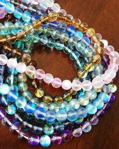 These foiled glass beads are some of our all-time favorites!   Get them here: