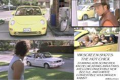 Movie Screen Shot Volkswagen The Hot Chick White convertible Rabbit, Yellow Convertible Beetle