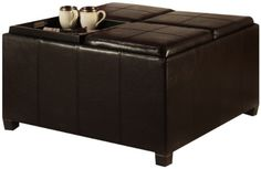 Times Square Ottoman with 4 Tray Tops by #Convenience Concepts, Inc. Convenience Concepts brings you exciting and affordable furniture. Combining exciting design...
