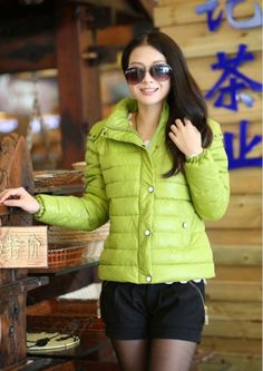 New Arrival Hooded Zipper Snap Button Short Down Cotton Coat for Women on BuyTrends.com, only price $33.90