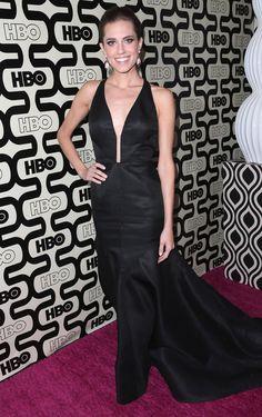 Allison Williams posed outside of HBO's Golden Globes bash