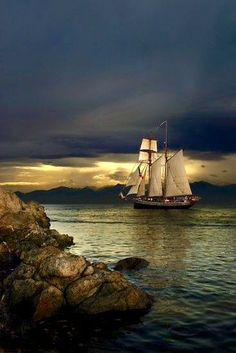 When night falls... It's beautiful.. Sailing