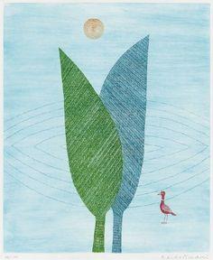 二本の木と鳥 1988年