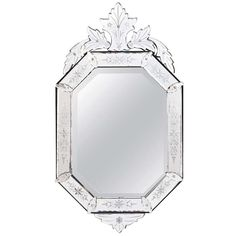 Antique Venetian Mirror | From a unique collection of antique and modern wall mirrors at http://www.1stdibs.com/furniture/mirrors/wall-mirrors/