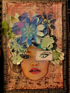 Collage art journal page. Miranda Bosch - Thurlings