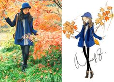 Red maple (by Nancy Zhang) http://lookbook.nu/look/1320981-Red-maple