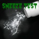 sneeze test - using baby powder to teach about germs