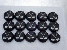 decorate ding dongs and chocolate dipped oreos for cake topper and cupcake decorations