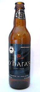 """O'Hara's Irish stout - Carlow Brewing Company, Carlow, Ireland : Only 4.3% ABV, it boasts """"gobs of flavor"""", """"throws down hop aroma ad a firm bitterness"""", with a """"dry, enticingly bitter finish"""". A """"session stout"""" with """"huge complexity and startling freshness"""". Yum, I love a good stout."""