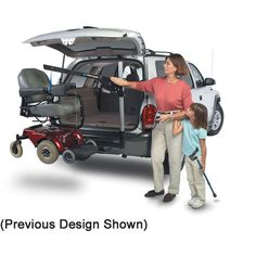 The AL065 Harmar wheelchair lift is a crane style electric lift that mounts in your receiver hitch to help lift a wheelchair or scooter into the back of a ...  sc 1 st  Pinterest & power wheelchair shown on our new power wheelchair carrier | Wish ...