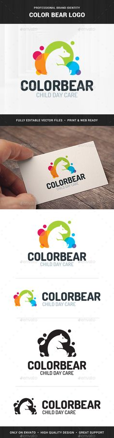 Color Bear Logo Template