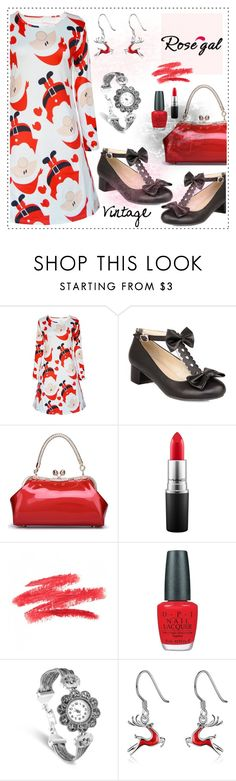 """""""Win $20 Cash from Rosegal!"""" by amisha73 ❤ liked on Polyvore featuring MAC Cosmetics, OPI and vintage"""