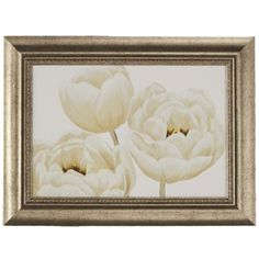 White Poppies' Framed Giclee Print Wall Art with Glass | Overstock.com Shopping - The Best Deals on Framed Prints