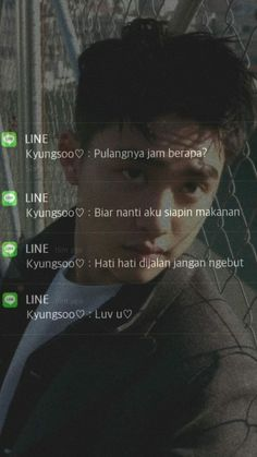 Message Wallpaper, Ikon Wallpaper, Dark Wallpaper Iphone, Kyungsoo, Chanyeol, Boyfriend Kpop, Chat Line, Instagram Bio Quotes, Ji Hoo