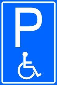 Parkeren met rolstoelman