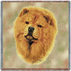 """#1165-LS Artwork by world renowned animal artist, Robert May. This high quality tapestry throw portrays a skillful rendition of the featured animal portrait. 54"""" wide x 54"""" length Jacquard woven 100%"""