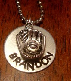 Stamped Necklace  Baseball Mom Necklace by SouthernCharmDe on Etsy, $26.00